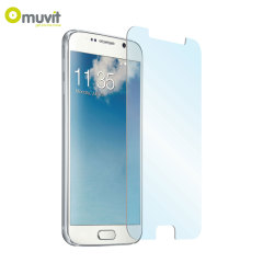 With superb screen protection and rounded edges this ultra-thin anti-shock tempered glass protector from Muvit is the perfect choice for the Samsung Galaxy S6.