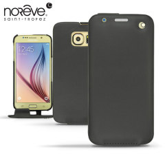 Noreve Tradition Flip Case Ledertasche für Galaxy S6 in Schwarz