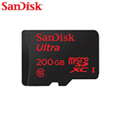 SanDisk brings you a Full-HD compliant performance Micro SD Card. The 200GB Micro SDXC card safely and effectively stores all your precious data and images compatible with a wide range of portable devices.