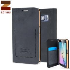Zenus Tesoro Diary Samsung Galaxy S6 Leather Wallet Case - Black