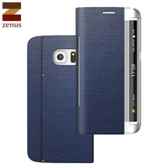 Zenus Metallic Diary Samsung Galaxy S6 Edge Case - Navy Blue