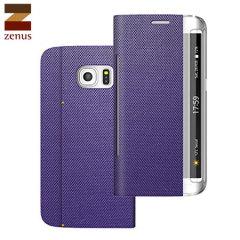 Zenus Samsung Galaxy S6 Edge Metallic Diary Stand Hülle in Violet
