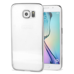 Glimmer Polycarbonate Samsung Galaxy S6 Hülle Shell Case Silber/ Klar