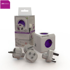 allocacoc World PowerCube Extended USB 4xPower Plug en 2xUSB - 1.5m