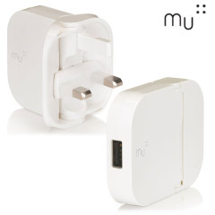 MU Tablet in white is an update on the award winning folding plug design. A higher powered 2.4A folding USB mains charging adapter with 1 USB port, which reduces to 70% its size for pocket-sized portability. Charge your tablets and smartphones.