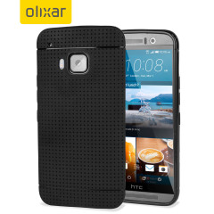 Custom moulded for the HTC One M9, this black FlexiShield Dot case by Olixar provides a perfect fit and durable protection against damage.