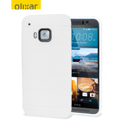 Coque HTC One M9 Olixar FlexiShield Dot - Blanche