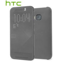 Original HTC One M9 Tasche Dot View 2 in Grau