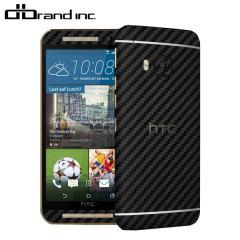 dbrand Cover HTC One M9 Carbon Fibre Skin- Schwarz