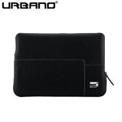 Urbano Premium Leather MacBook 12 Inch Sleeve - Black