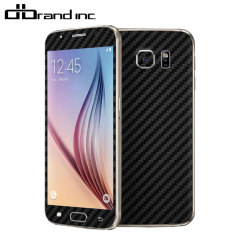 dbrand Cover Samsung Galaxy S6 Carbon Fibre Skin- Schwarz