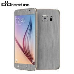 dbrand Textured Samsung Galaxy S6 Cover Skin - in Titanium Silber