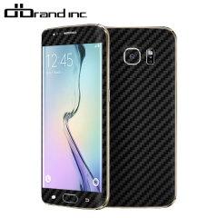 dbrand Cover Samsung Galaxy S6 Edge Carbon Fibre Skin- Schwarz