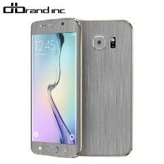dbrand Textured Samsung Galaxy S6 Edge Cover Skin - in Titanium Silber