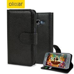 Custodia Encase portafogli ecopelle Samsung Galaxy Core Prime - Nero