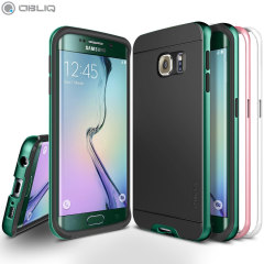 Obliq Dua Poly Galaxy S6 Edge Bumper Case 3 Pack - Wit, Roze, Mint