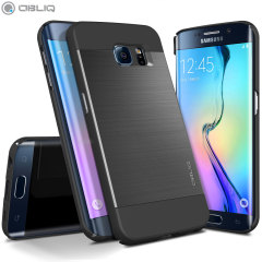 Obliq Slim Meta Samsung Galaxy S6 Edge Case Hülle Titanium Space Grey