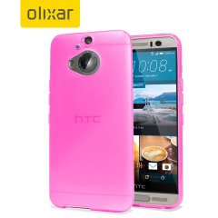 Custom moulded for the HTC One M9 Plus, this solid light pink Olixar FlexiShield case provides slim fitting and durable protection against damage.
