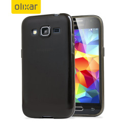 FlexiShield Samsung Galaxy Core Prime Case - Smoke Black