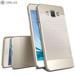 Obliq Slim Meta Samsung Galaxy A5 Case Hülle in Champagner Gold