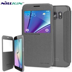 Nillkin Sparkle Big View Window Samsung Galaxy S6 Case - Black
