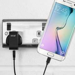 Charge your Samsung Galaxy S6 Edge quickly and conveniently with this 2.4A high power charging kit. Featuring mains adapter and USB cable.