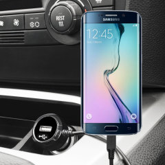 Keep your Samsung Galaxy S6 Edge fully charged on the road with this high power 2.4A Car Charger, featuring extendable spiral cord design. As an added bonus, you can charge an additional USB device from the built-in USB port!
