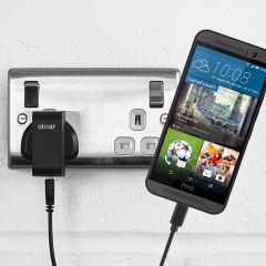 Charge your HTC One M9 quickly and conveniently with this compatible 2.4A high power charging kit. Featuring mains adapter and USB cable.