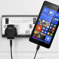 Charge your Microsoft Lumia 535 quickly and conveniently with this 2.5A high power charging kit. Featuring mains adapter and USB cable.