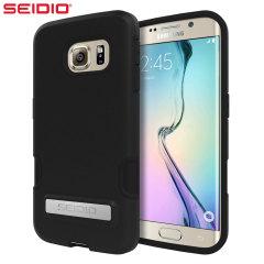 Seidio Dilex Samsung Galaxy S6 Edge Hülle mit Standfunktion in Schwarz