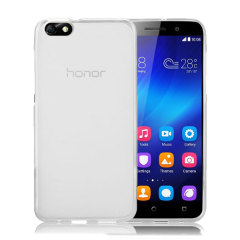 Custom moulded for the Huawei Honor 4X, this white FlexiShield case provides slim fitting and durable protection against damage.