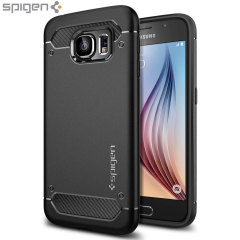 Meet the newly designed rugged case for the Samsung Galaxy S6. Made from a flexible, rugged TPU and featuring a mechanical design, including a carbon fibre texture, the Ultra Rugged capsule in black keeps your phone safe and slim.