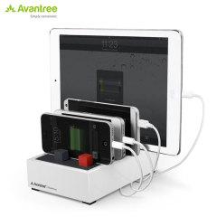 La estación de carga Avantree PowerHouse es la solución perfecta para cargar de forma simultánea varios dispositivos en el hogar o en la oficina. Dispone de una salida total de 4.5A, lo que se traduce en una carga rápida y eficaz. Este accesorio le ayudará a mantener libre su escritorio.