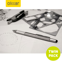 Olixar HexStyli 6 in 1 Stylus Pen - Silver - Twin Pack