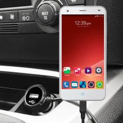 Gardez votre appareil  ZTE Blade S6 complètement chargé sur la route avec ce chargeur de voiture avec câble spiralé.