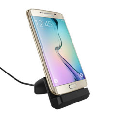Desktop Dock Cover-Mate per Galaxy S6 Edge - Nero