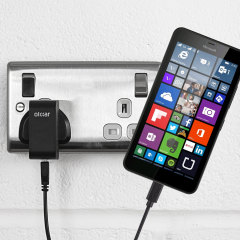 Charge your Microsoft Lumia 640 quickly and conveniently with this compatible 2.4A high power charging kit. Featuring mains adapter and USB cable.