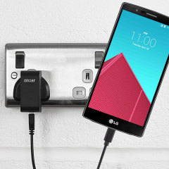 Charge your LG G4 quickly and conveniently with this 2.4A high power charging kit. Featuring mains adapter and USB cable.