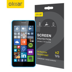 Keep your Lumia 640 screen in pristine condition with this 2 pack of Olixar scratch-resistant screen protectors.