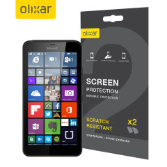 Keep your Lumia 640 XL screen in pristine condition with this 2 pack of Olixar scratch-resistant screen protectors.