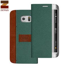 Zenus Samsung Galaxy S6 Edge Martin Diary Wallet Hülle in Grün