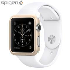 Spigen Thin Fit Apple Watch Series 2 / 1 Hülle (38mm) Champagner Gold
