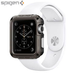 La funda Spigen Tough Armor es la funda líder en ligereza de todas las fundas para el Apple Watch. La nueva tecnología Air Cushion reduce el tamaño en las esquinas proporcionando una proteción óptima a su Apple Watch (42 mm).