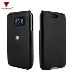Piel Frama iMagnum Samsung Galaxy S6 Edge Flip Case - Zwart