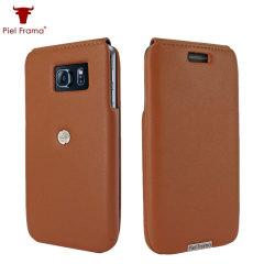 Piel Frama iMagnum Samsung Galaxy S6 Edge Flip Case - Tan