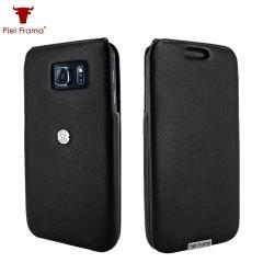 Piel Frama iMagnum Samsung Galaxy S6 Flip Case - Black