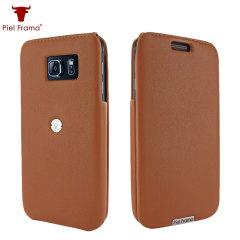 Piel Frama iMagnum Samsung Galaxy S6 Flip Case - Tan