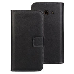 Sophisticated and lightweight, this black leather-style wallet case is the ideal companion for your Huawei Ascend Y530. The Encase leather-style wallet case offers perfect protection for your Y530, as well as featuring slots for your cards.