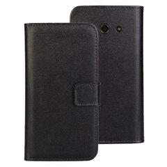 Verfijnde en lichtgewicht, deze lederen stijl Wallet case is de ideale metgezel voor uje Huawei Ascend Y530. De Encase leer-stijl Wallet case biedt de perfecte bescherming voor je Y530, evenals met slots voor je pasjes.