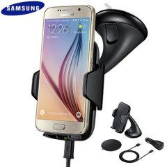 Samsung Galaxy S6 / S6 Edge Qi Wireless Charging Car Holder - Black